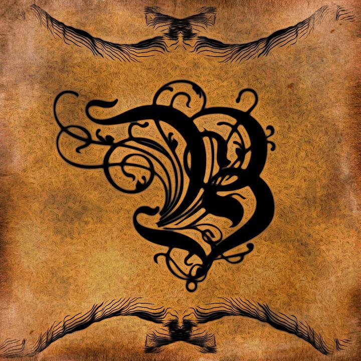 Beautiful Monogram Letter B - Calligraphy
