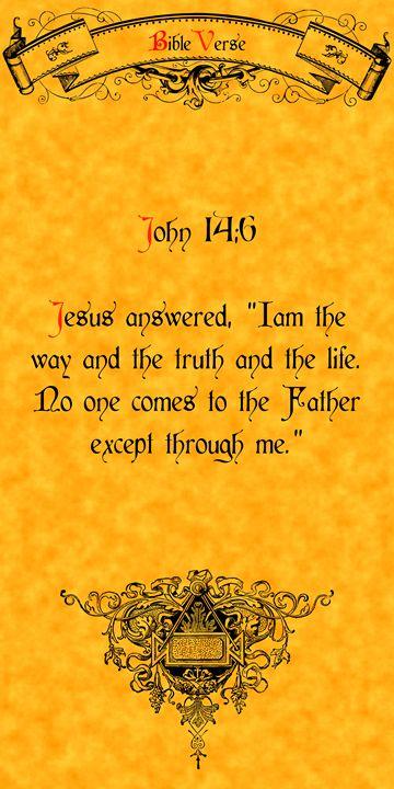Bible Verse John 14:6 - Calligraphy