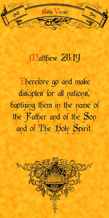 Bible Verse Matthew 28:19 - Calligraphy