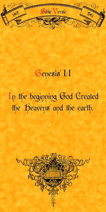 Bible Verse Genesis 1:1 - Calligraphy