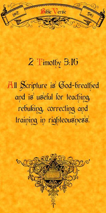Bible Verse 2 Timothy 3:16 - Calligraphy