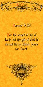 Bible Verse Romans 6:23
