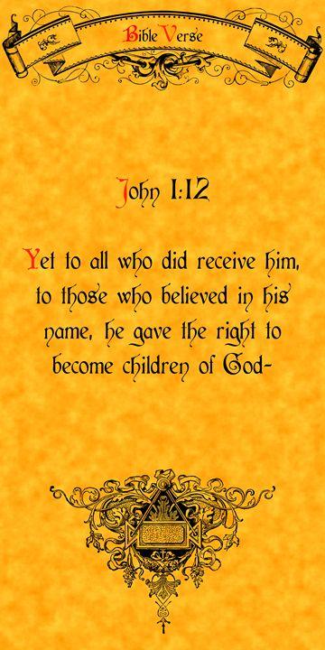Bible Verse John 1:12 - Calligraphy
