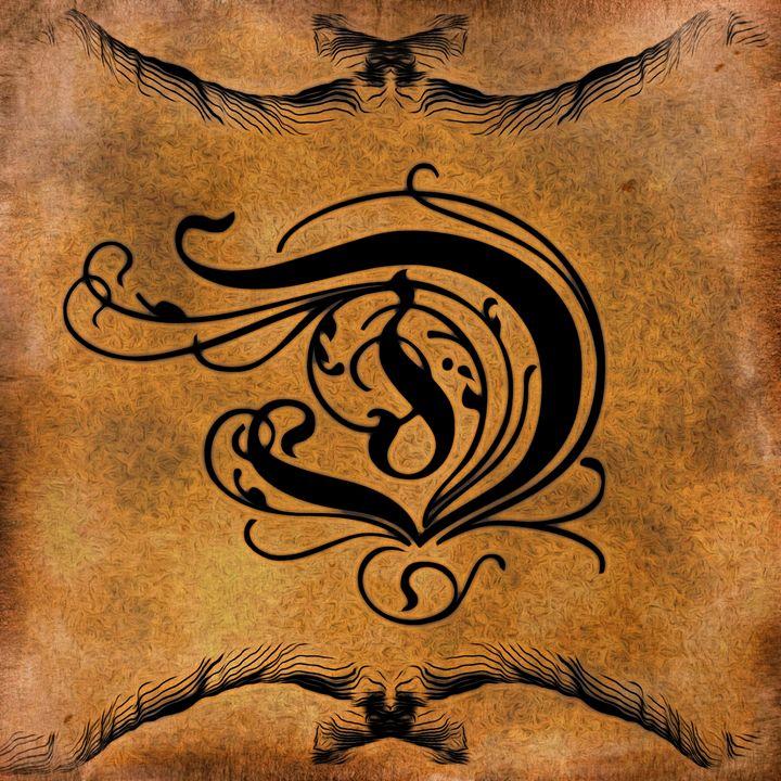 Beautiful Monogram Letter D - Calligraphy