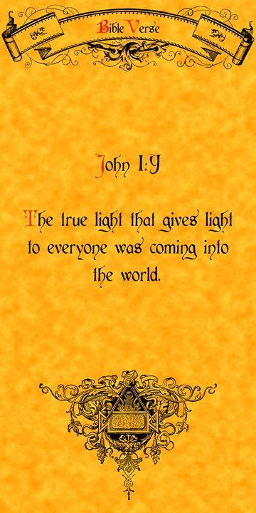 Bible Verse John 1:9 - Calligraphy