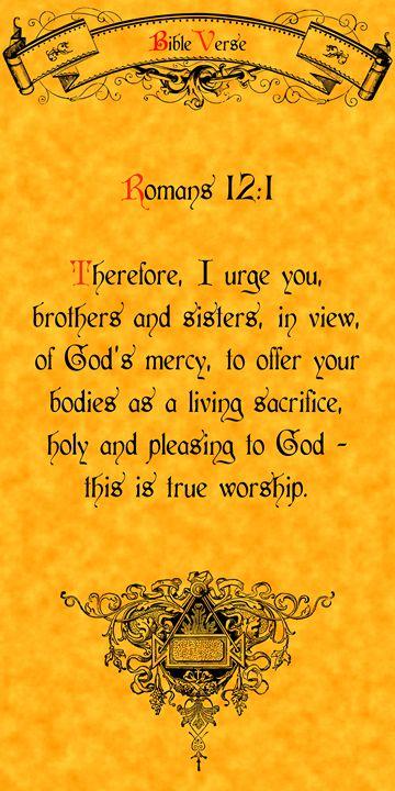 Bible Verse Romans 12:1 - Calligraphy