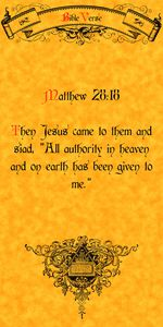 Bible Verse matthew 28:18
