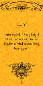 Bible Verse John 3:3