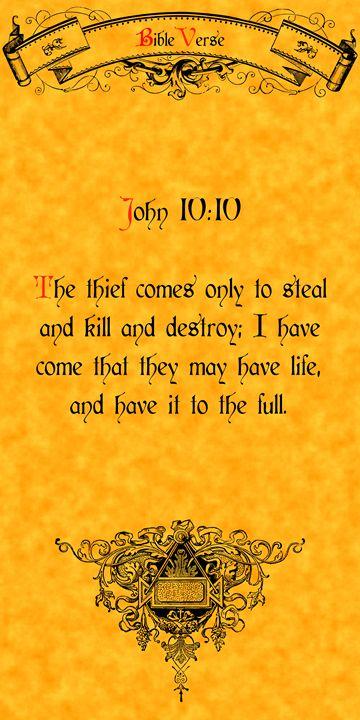 Bible Verse John 10:10 - Calligraphy