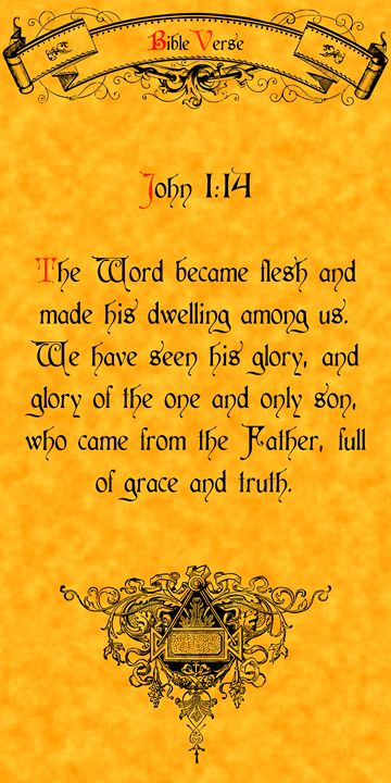 Bible Verse John 1:14 - Calligraphy
