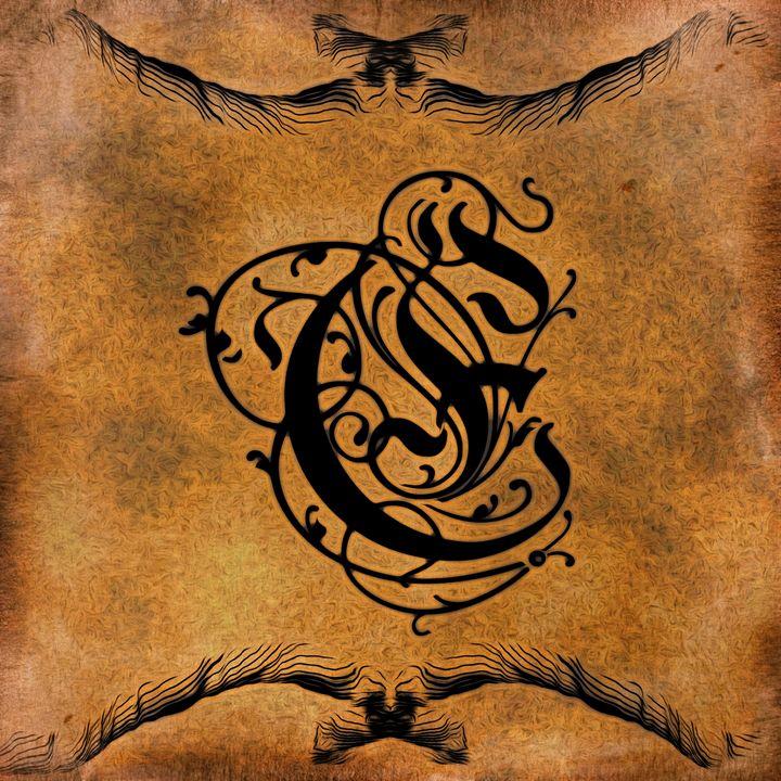 Beautiful Monogram Letter E - Calligraphy