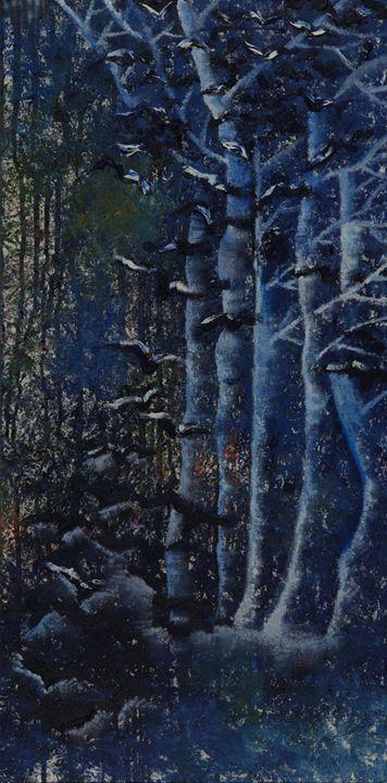 Birds flying trough the forest - Yulia Yakubovich