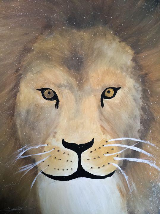 Lion watercolor painting - Yuvart