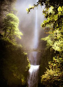 Misty Morning at Multnomah Falls