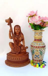 Wooden Meera Idol, Decorative Statue - Samriddhi Arts And Crafts