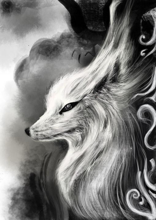 The white fox in the shadow - Annalias
