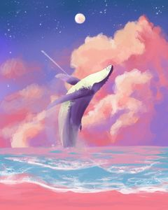 Whale on the sky