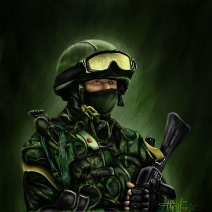 Portrait of A Russian Army - Stunning Random Art