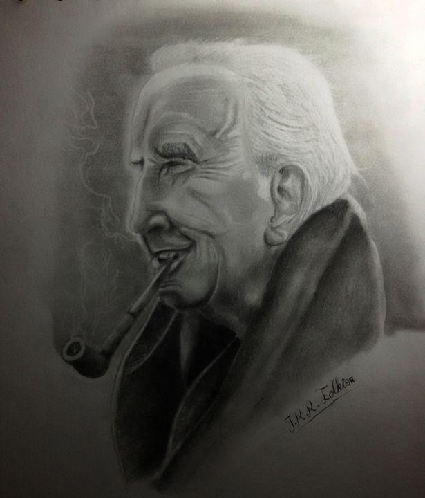 Portrait of J.R. Tokien - Stunning Random Art