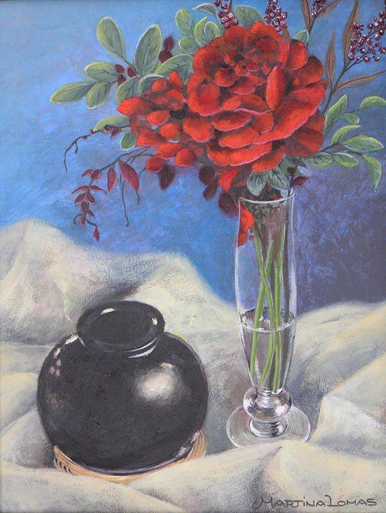 Roses Still Life - Martina Lomas