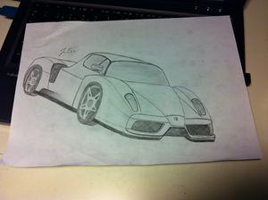 Ferrari Enzo - Julia Chaas Art