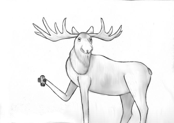 Moose Livin the Life - Julia Chaas Art