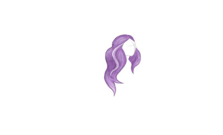 Sketch of Hair - Julia Chaas Art