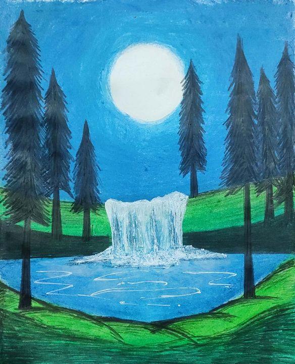 Moonlight Waterfall - Sweta Mahra