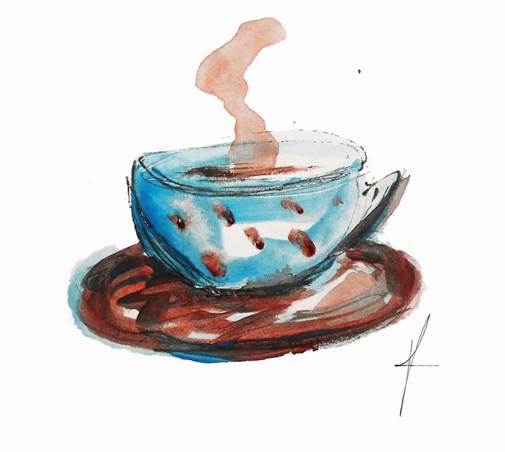 Coffee cup - KristinaValicArt
