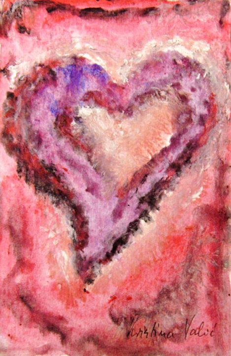 Heart painting - KristinaValicArt