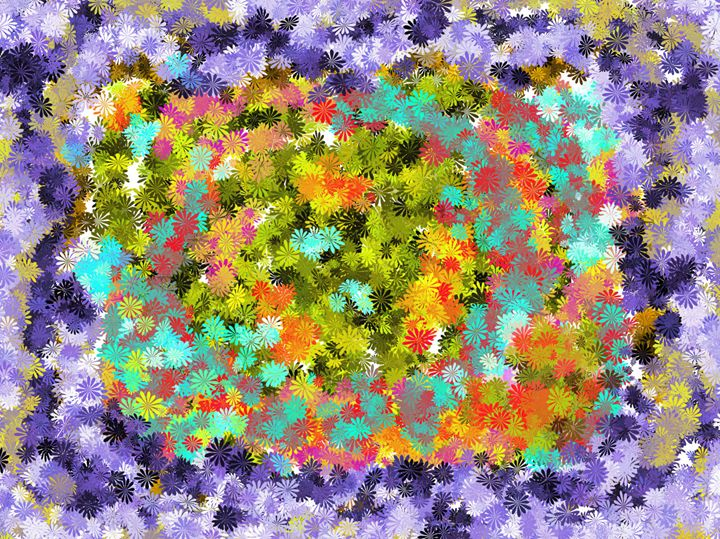 Abstract flowers - KristinaValicArt