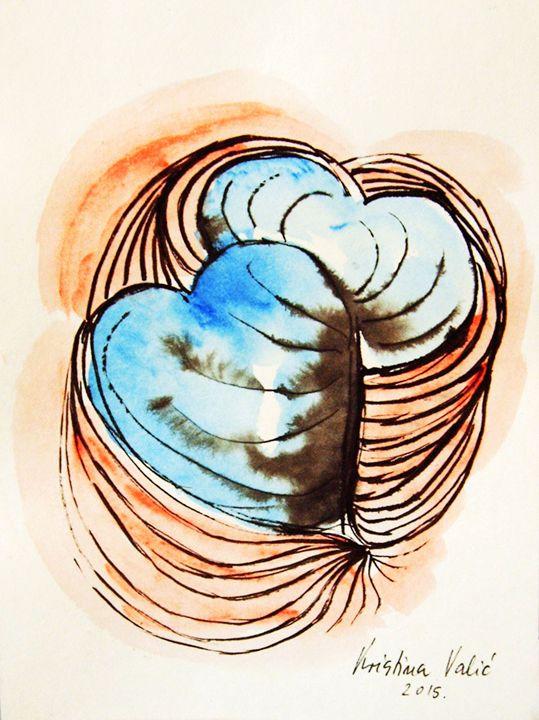Blue Hearts - KristinaValicArt