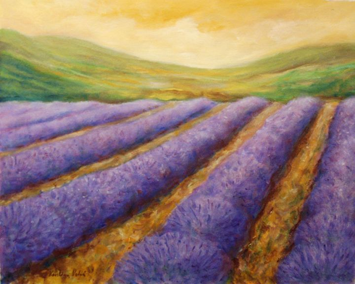 Lavender field - KristinaValicArt