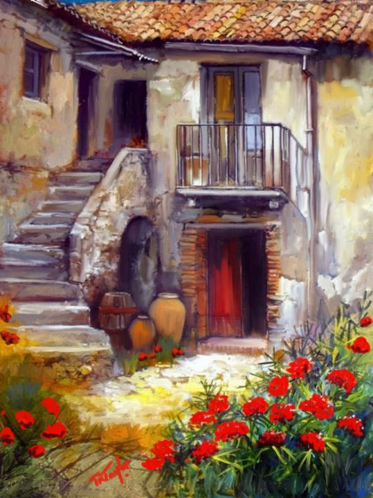 A French Courtyard - T.Ralph Taylor