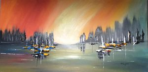 Atmospheric Abstract Seascape