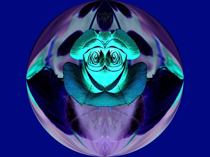 Rosey Owl In Flight - JFantasma Artistry