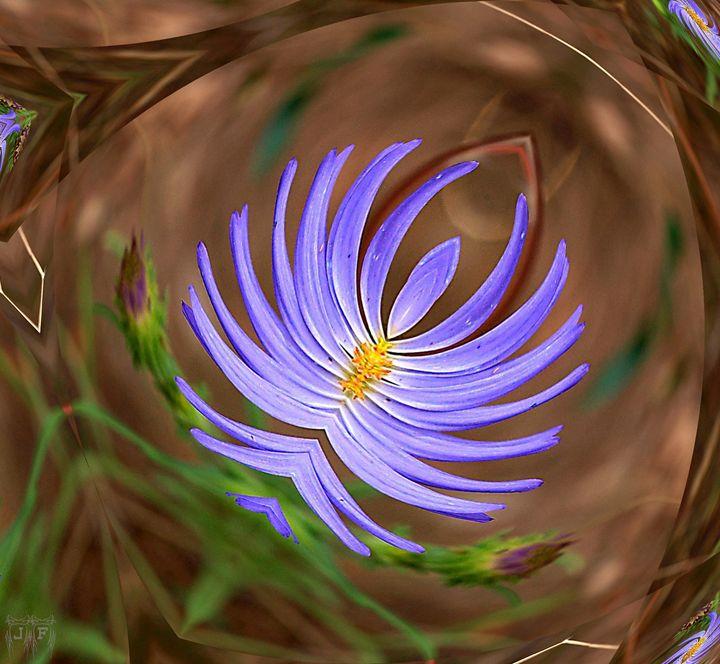 Blue Ballerina Flower Art - JFantasma Artistry