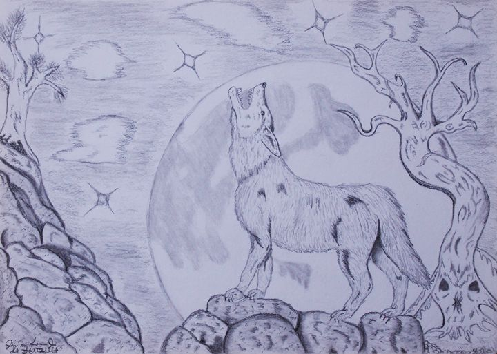As The Wolf Howls At The Moon - JFantasma Artistry