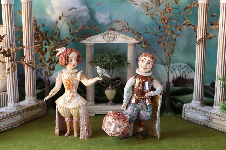 In the summer garden - Elya Yalonetski. Ceramic Miracles