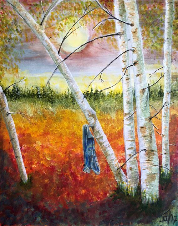 Demin Shirt - Jennifer Lynn - Canadian Artist