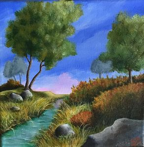 Relaxing Field and Babbling Brook - Sandra Bateman
