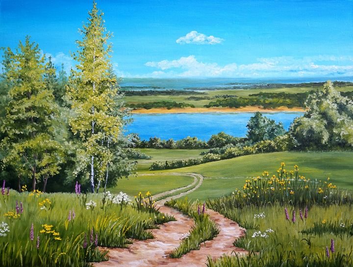 Summer landscape - Augustus arts