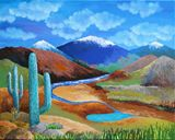 Original painting, acrylic on canvas