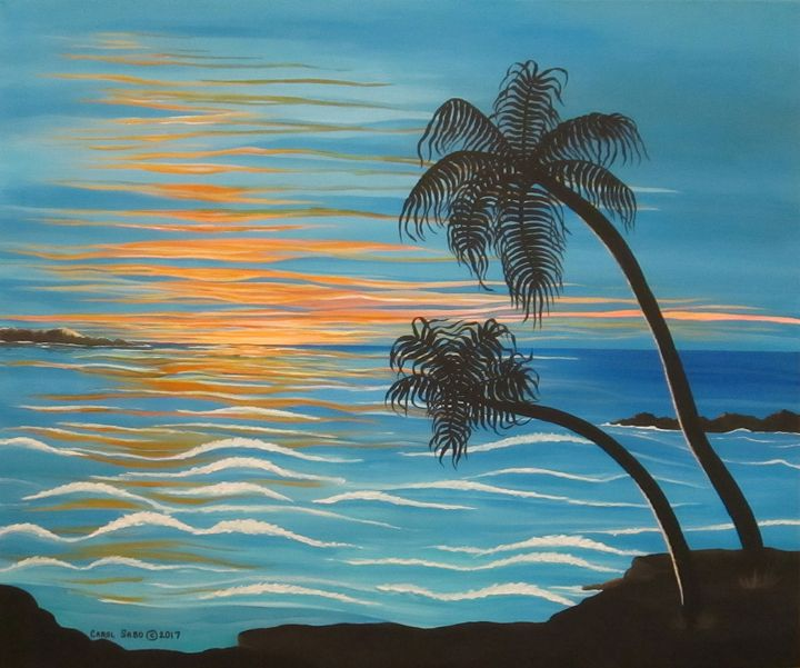 Sunset In Paradise - Southwest & Florals by Carol