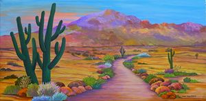 Path To McDowell Mountain Phoenix AZ - Southwest & Florals by Carol
