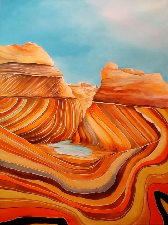The Wave, AZ - Southwest & Florals by Carol