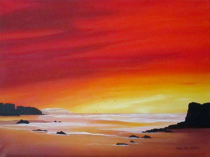 Sunrise at Low Tide - Southwest & Florals by Carol
