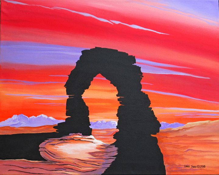 Dusk at Arches National Park Utah - Southwest & Florals by Carol