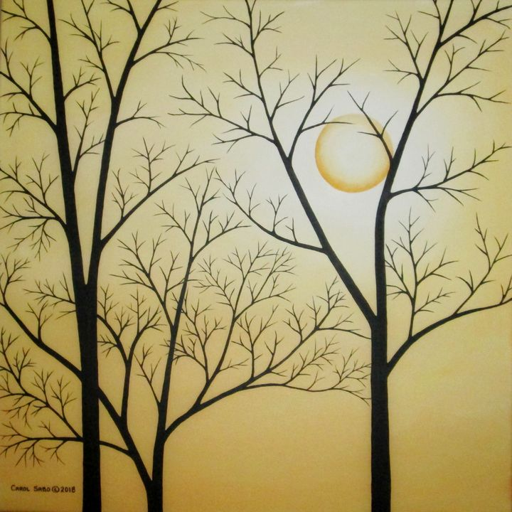 Moon Behind the Naked Trees - Southwest & Florals by Carol
