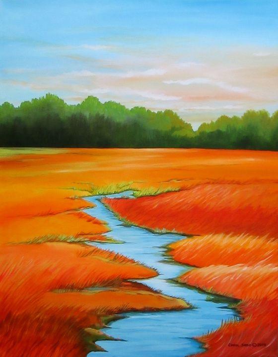 Meandering Stream - Southwest & Florals by Carol